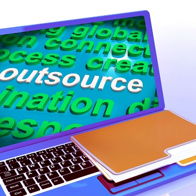 how to choose a freelance writer -Outsource Word Cloud Laptop Shows Subcontract And Freelance by Stuart Miles