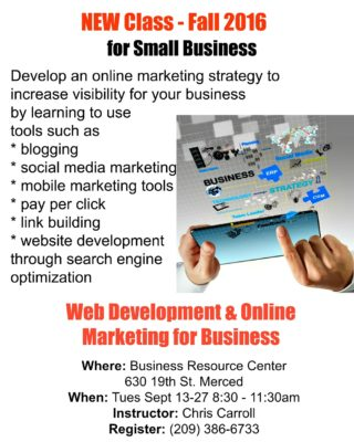 Learn Web Development and Online Marketing for Business Merced Ca. | connectinglocalbusiness.com